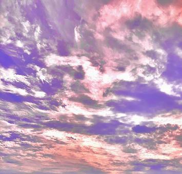 天空壁紙 21 粉紅色和藍色的天空