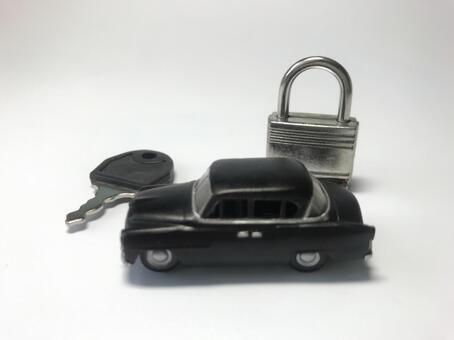 Car and key, car security image
