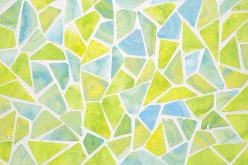 Watercolor tile green