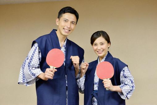 夫妻2乒乓球享受