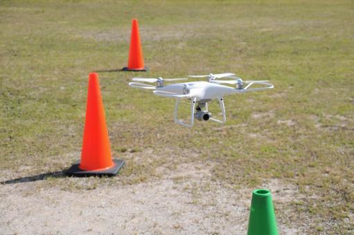 Train drone maneuvering