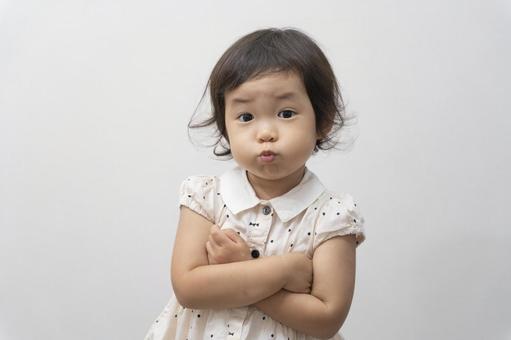 Child girl girl get angry