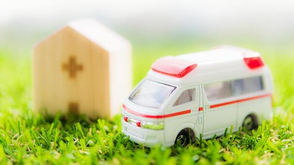 Ambulance and hospital