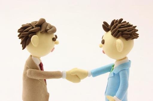 Businessman to shake hands 6