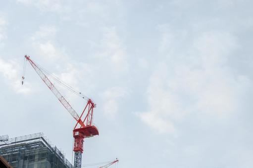 Apartment building Roof top tower crane