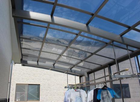 Carport clothesline