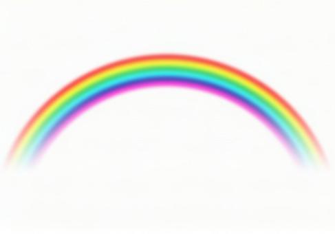 Rainbow Cut White Background