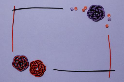 Mizuhiki frame Halloween color Background color Purple beads used With enclosure