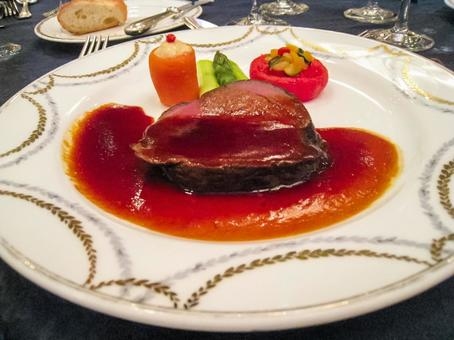 Fashionable French Celebration Course Meat Dishes Main Dish Steak Food Texture Material