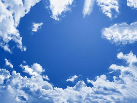 Backlit clouds and sky that are easy to put text on