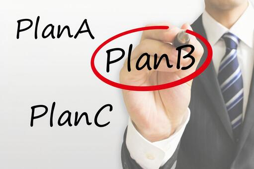 Businessman choosing a plan