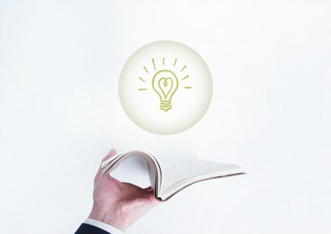 Schedule book and light bulb illustration
