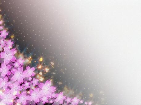 桜吹雪背景和纸28-01