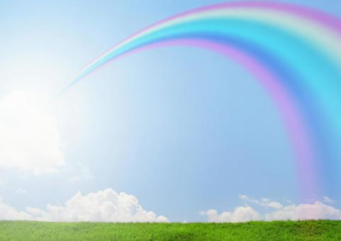 Rainbow arch image of hope