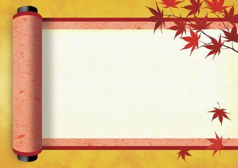 Scroll of autumn leaves 【あ か】