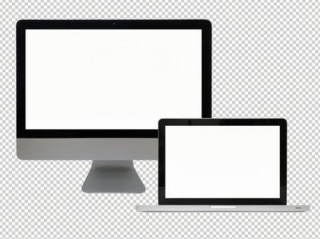 デスクトップパソコンとノートパソコン(PSDファイル)