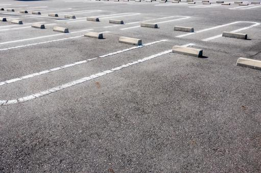 Photo of a paved parking lot taken in Japan