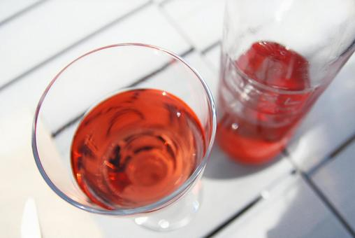 Wine Rose Pink Rose Wine Glass Wine