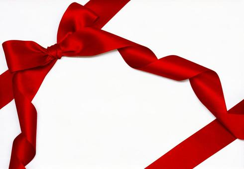 Ribbon wrapping 【1】 with cutting out path