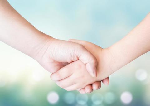 Children's handshake glitter background