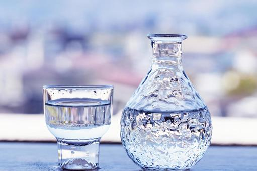 Cold sake in summer