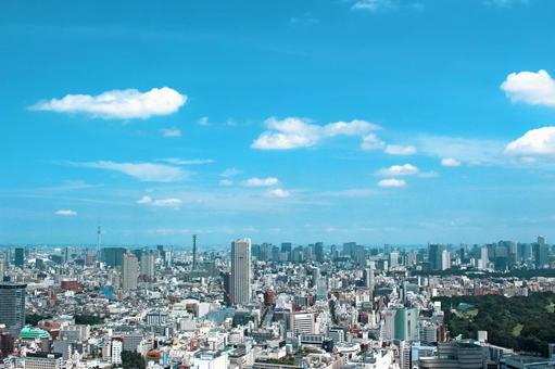 City view Vista Tokyo 5 Emerald green sky