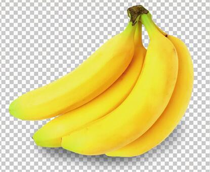 바나나 (그림자와 배경 지울 수 있습니다!) 0430