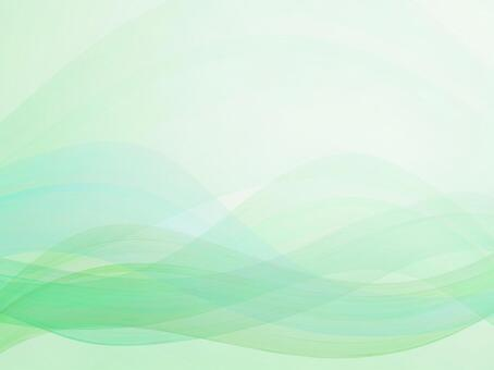 Green streamlined abstract background material