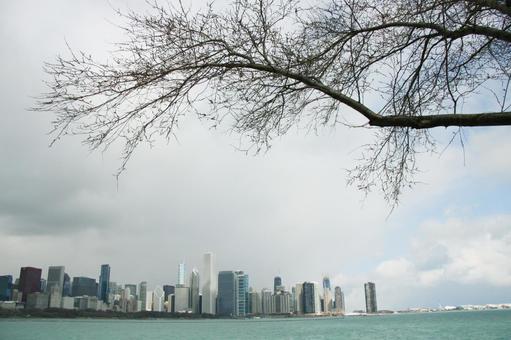 Chicago Skyscrapers and Lake Michigan America