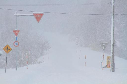 The path of heavy snow