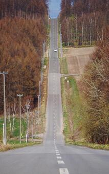 One road on the hill