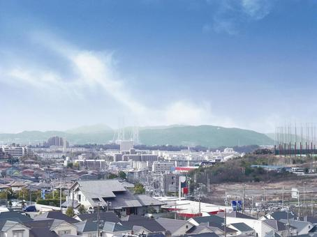 View of Kobe Awaji Island and Akashi Strait