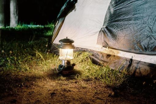 Tent and lantern