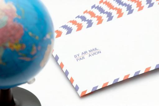 Airmail and globe