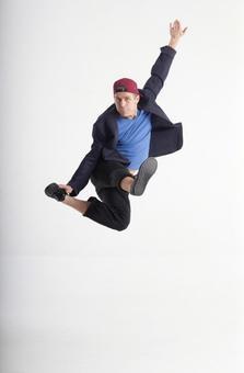 Male dancer's pose 12