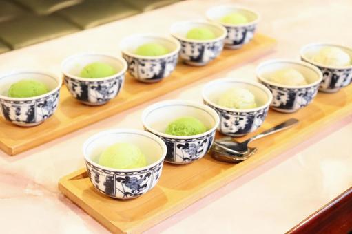 Five-tiered green tea ice cream ③