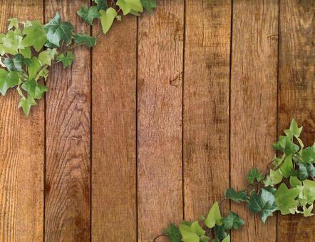 Wood grain and ivy