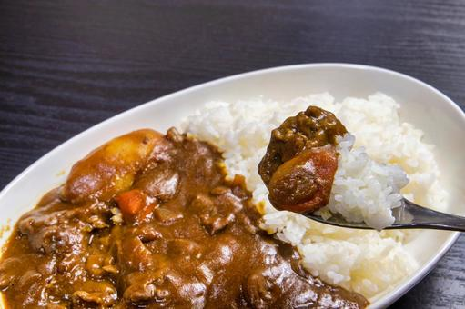 Eat curry rice