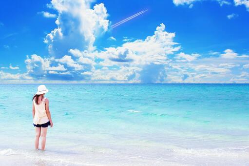 여름의 바다