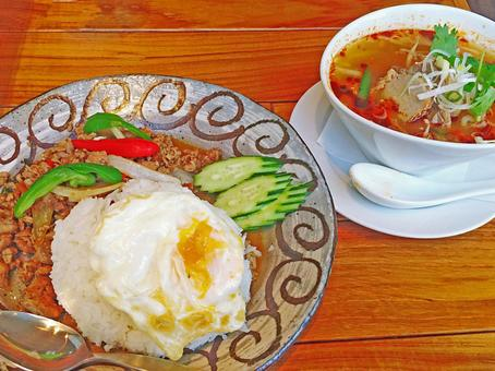태국 음식 ~ 가빠오와 톰 양쿤