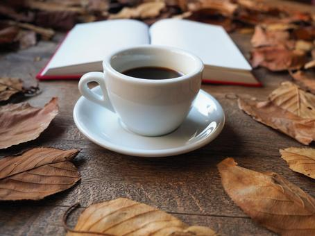 Image of a book and coffee