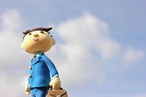 Blue sky and businessman 5
