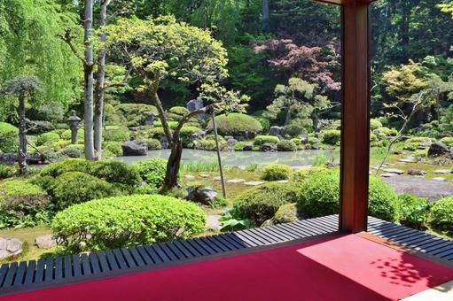 Tamagawa Temple Garden Nationally designated cultural property Tsuruoka City, Yamagata Prefecture