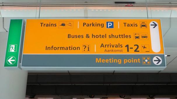 Airport guide bulletin board 1