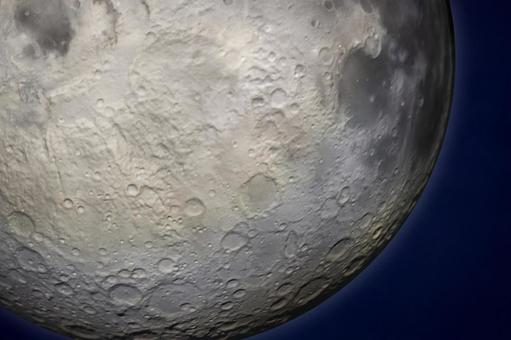 Image of the moon floating in the night sky Up crater 15 nights moon viewing