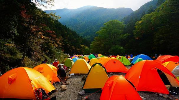 長衛 오두막 텐트 장에 이어지는 텐트
