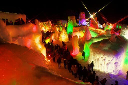 Shikotsu Lake Ice Fall Festival