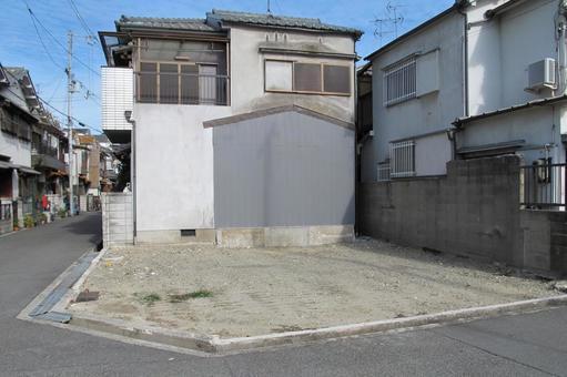 Closed corner of residential area