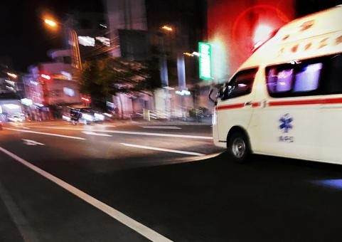 Ambulance rushing to the hospital (document style)
