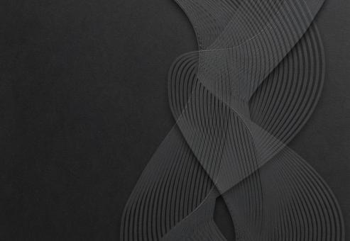 背景紋理日式和紙日式相框新年賀卡新年壁紙波浪曲線黑色黑色